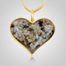Heart Cremation Ash Pendant IV