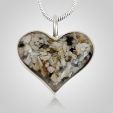 Heart Cremation Ash Pendant