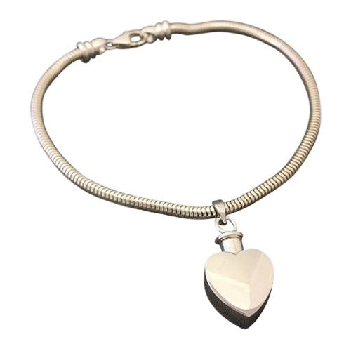 Heart Cremation Bracelet