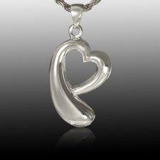 Heart Drop Cremation Pendant III