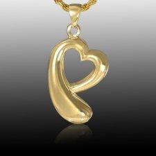 Heart Drop Cremation Pendant IV