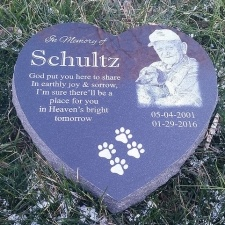 Heart Granite Pet Grave Marker