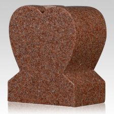 India Red Heart Granite Vase