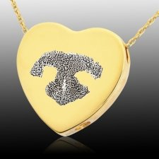 Heart Nose 14k Gold Print Cremation Keepsake