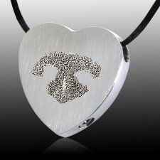 Heart Nose Stainless Print Cremation Keepsake