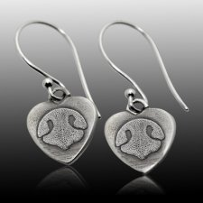 Heart Pet Print Earrings