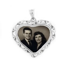 Heart Photo Pendants