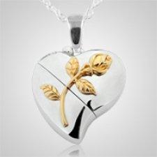 Heart Rose Keepsake Pendant