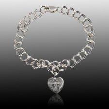 Heart Cremation Print Bracelets