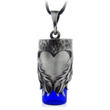 Heart Blue Urn Necklace