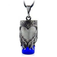Heart Blue Urn Necklace