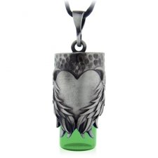 Heart Green Urn Necklace