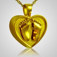 Footprint Heart Keepsake Pendant II