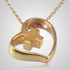 Heart Cross Slider Keepsake Pendant IV