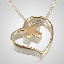 Heart Cross Slider Keepsake Pendant III