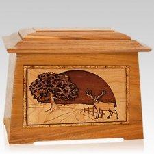 Heartland Deer Mahogany Aristocrat Cremation Urn