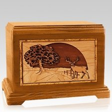 Heartland Deer Mahogany Hampton Cremation Urn