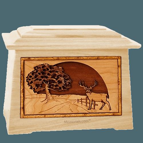 Heartland Deer Maple Aristocrat Cremation Urn