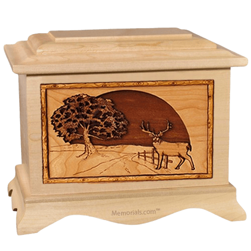 Heartland Deer Maple Cremation Urn