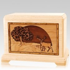 Heartland Deer Maple Hampton Cremation Urn