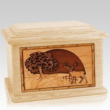 Heartland Deer Maple Memory Chest Cremation Urn