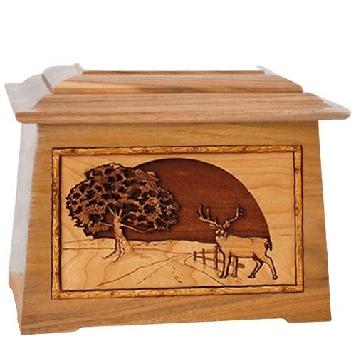 Heartland Deer Oak Aristocrat Cremation Urn