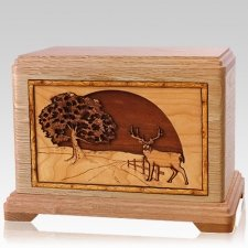 Heartland Deer Oak Hampton Cremation Urn