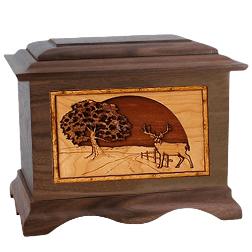 Heartland Deer Walnut Cremation Urn