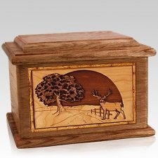 Heartland Deer Walnut Memory Chest Cremation Urn