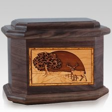 Heartland Deer Walnut Octagon Cremation Urn
