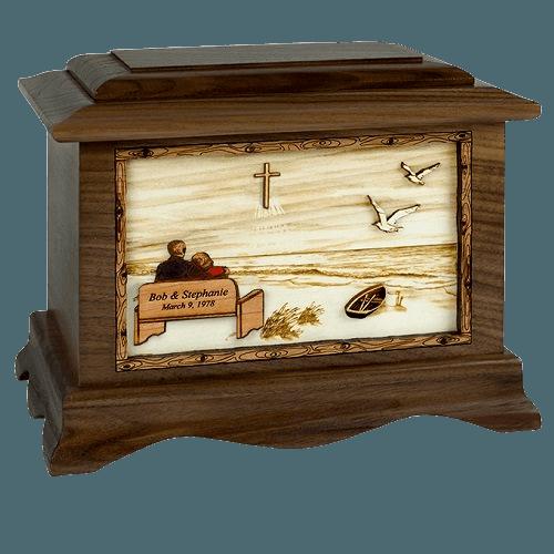 Heaven Maple Octagon Cremation Urn