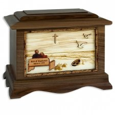Heaven Walnut Memory Chest Cremation Urn