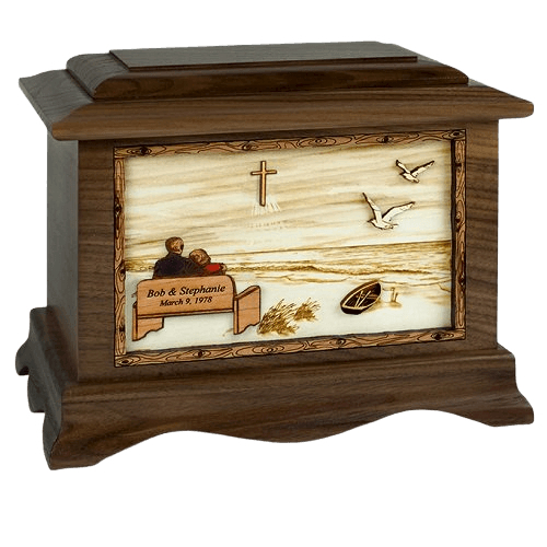 Heaven Oak Memory Chest Cremation Urn