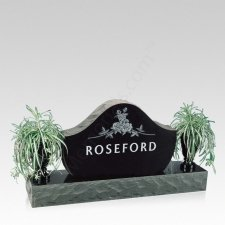Heavenly Companion Granite Headstone with Vases