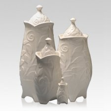 Heavenly White Cremation Urns