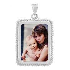 Helix Silver Photo Pendant