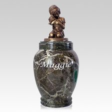 Her Best Doggy Marble Cremation Urn