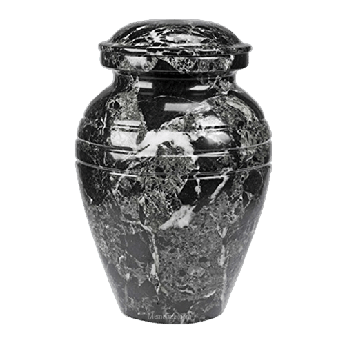 Hera Black Marble Cremation Urns