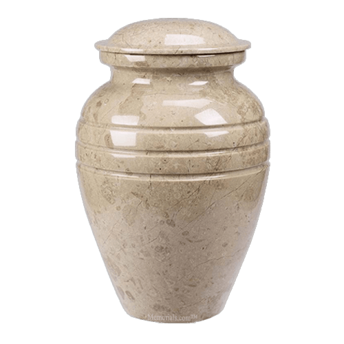 Hera Cream Marble Cremation Urns