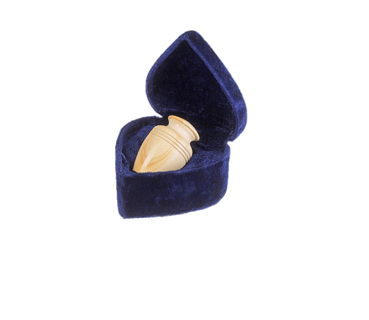 Hera Teak Marble Keepsake Cremation Urn