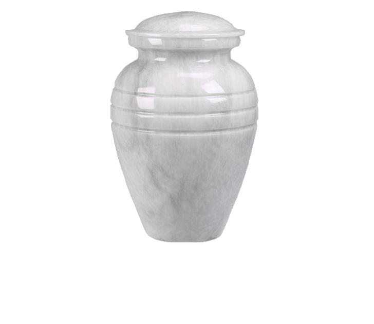 Hera White Marble Cremation Urn