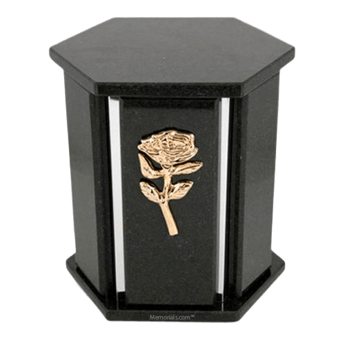 Hexagon Silver Black Cambrian Urn