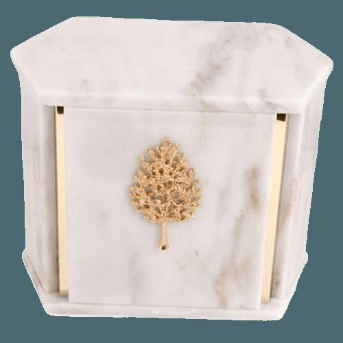 Hexagon White Danby Marble Companion Urn