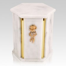 Hexagon White Danby Marble Urns