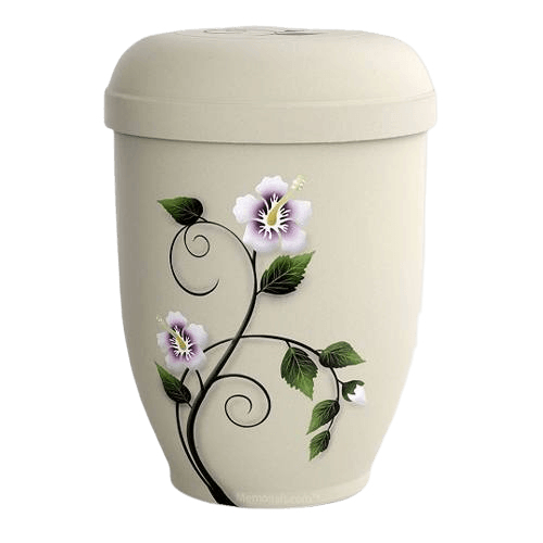 Hibiscus Biodegradable Urn