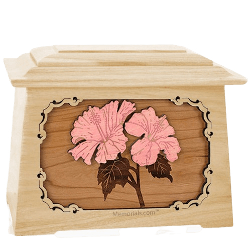 Hibiscus Maple Aristocrat Cremation Urn