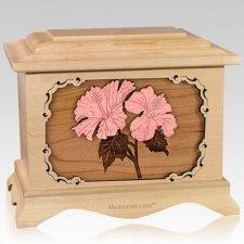 Hibiscus Maple Cremation Urn