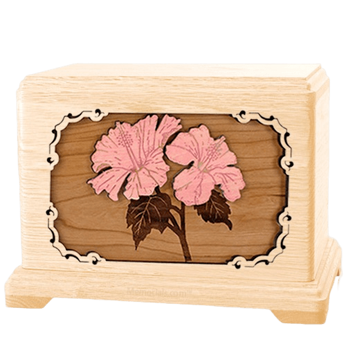 Hibiscus Maple Hampton Cremation Urn
