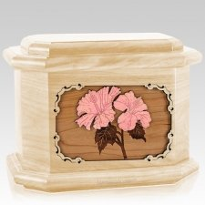 Hibiscus Maple Octagon Cremation Urn