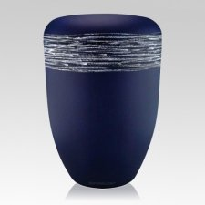 Himmel Blue Silver Biodegradable Urn
